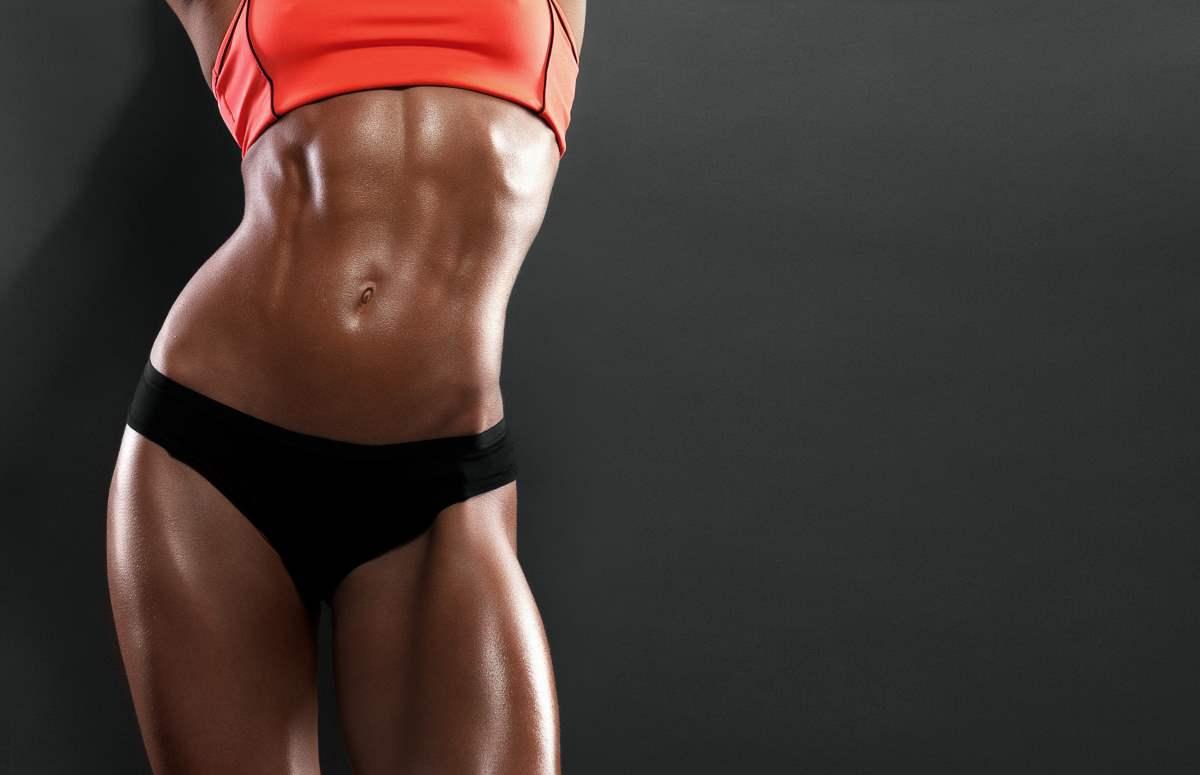 Muskelaufbau für Frauen Bodybuilding Fitness Hip Dips